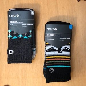 2 pairs Stance outdoor wool socks.